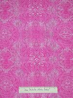 Timeless Treasures Fabric - Psychedelic Zebra Skin Print Pink White Yards