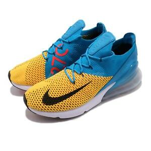 separation shoes d6126 3b30d Nike Air Max 270 Flyknit FK Laser Orange Blue Orbit Men Running ...