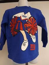 New Minor Flaw NY Giants Toddlers Size 2T Long sleeve Blue Cheerleader Shirt