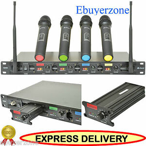 CHORD-QU4-QUAD-UHF-WIRELESS-HANDHELD-MIC-MICROPHONE-SYSTEM-19-034-Rack-Mountable