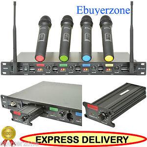 CHORD-QU4-QUAD-UHF-WIRELESS-HANDHELD-MIC-MICROPHONE-SYSTEM-19-034-Rack-Mountable