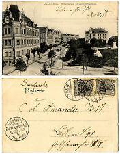 Oels i. Schl., Wilhelmstrasse mit Landschaftsgebäude, s/w AK gel. 1903