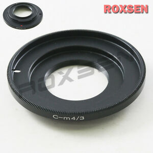 C-M4//3 Adapter Ring For C Mount Movie Lens to Micro M4//3 Panasonic Olympus DSLR