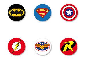 Lot-Badge-Button-25mm-Comics-Marvel-Super-Heros-Hero-Avengers