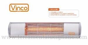 STUFA ELETTRICA ALOGENA DA ESTERNO ALTO POTERE CALORICO 1500W IP65 VINCO 70164