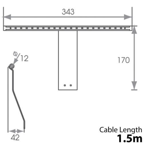 Over Cabinet Lumière DEL /& Driver Kit-Blanc Froid-Cuisine Armoire Lecture Lampe