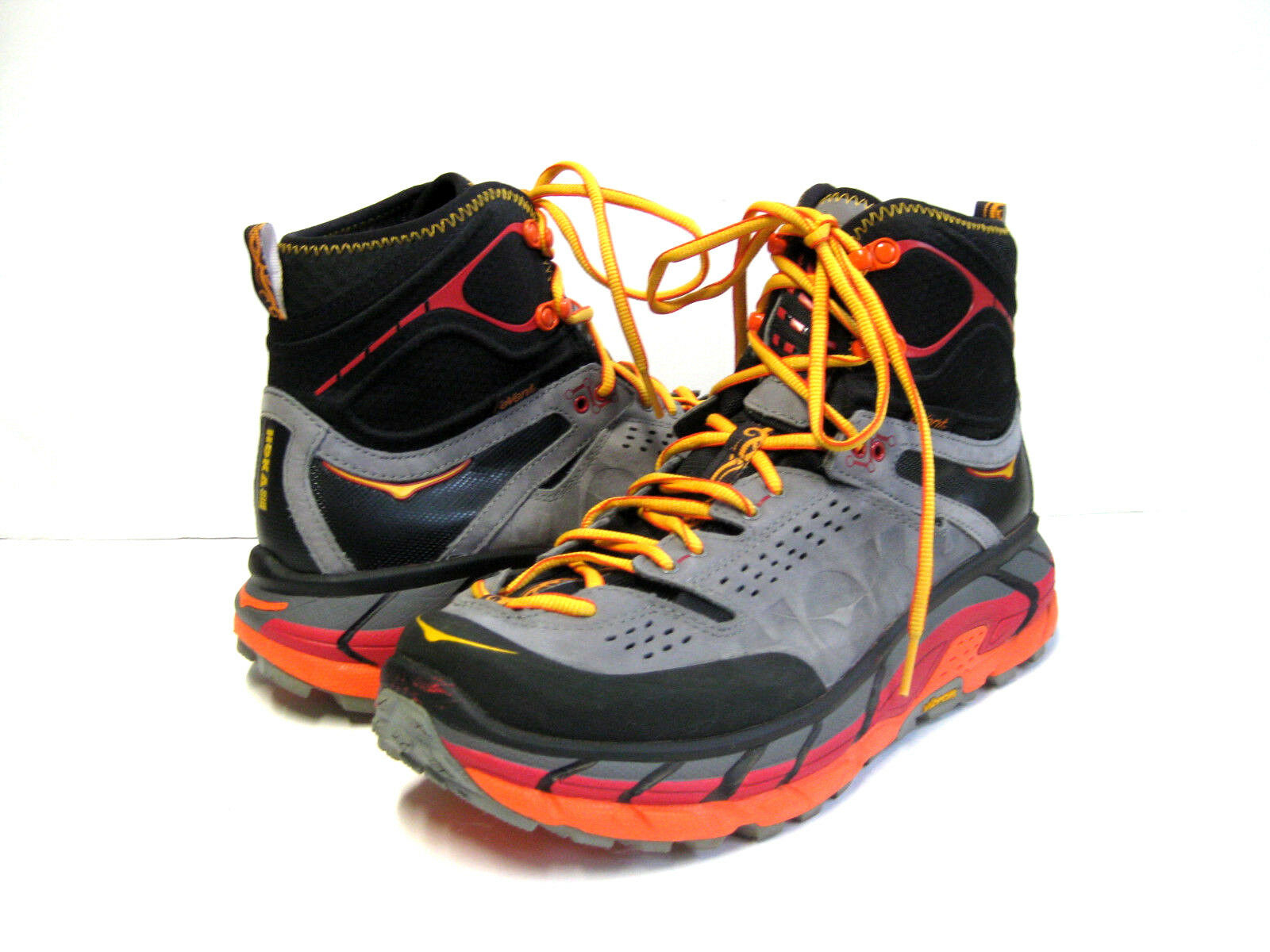 HOKA ONE ONE TOR ULTRA HI WP WOMEN HIKING BOOT BLACK/FLAME US 11 //