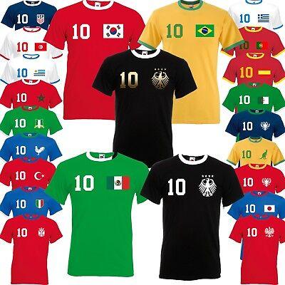 Herren Wm Em Weltmeister Fan Shirt Trikot Mit Wunschzahl/name S-xxl Alle LÄnder Durchblutung Aktivieren Und Sehnen Und Knochen StäRken