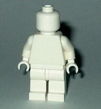 STATUE MINIFIG Lego Solid-Plain WHITE MiniFigure NEW Genuine Lego  Monochrome