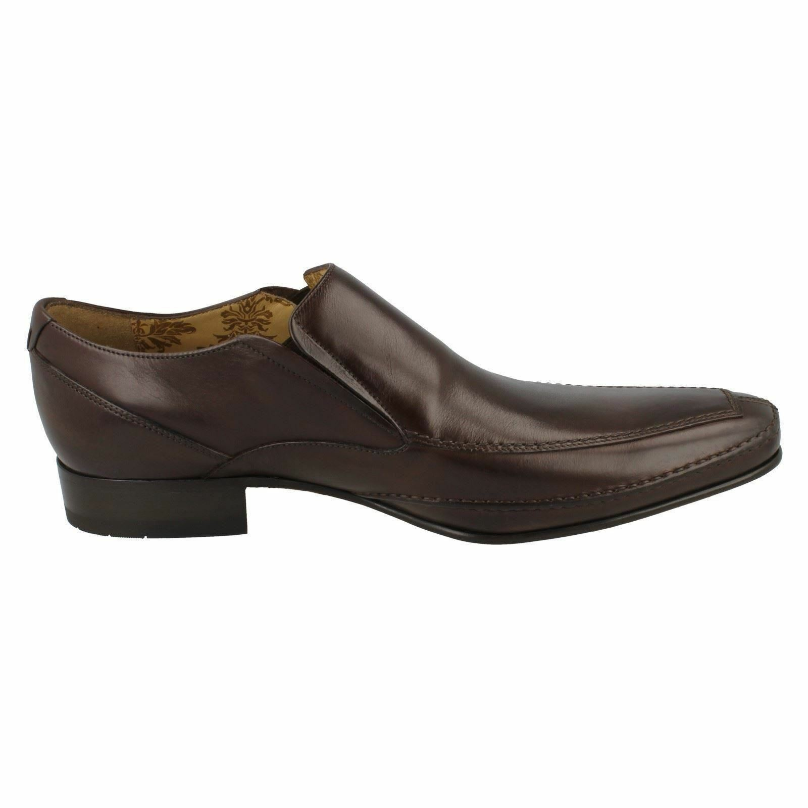 Herren LOAKE LEATHER SLIP ON ON SLIP FORMAL SQUARE TOE SMART OFFICE Schuhe SIZE MATTHEWS c70b8d