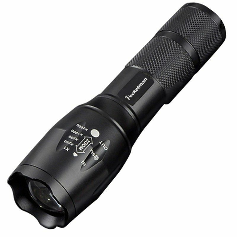 T6 Tactical Military LED Flashlight Torch 50000LM Zoomable 5-Mode for 18650 8