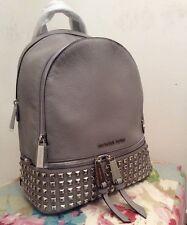 Genuine Michael Kors Medium Rhea Studded Pearl Grey Backpack Rrp £390