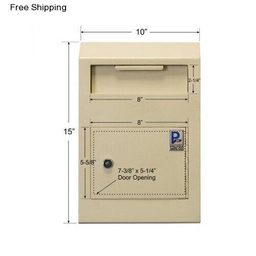 Caja de caída de seguridad seguridad seguridad de bloqueo Depository correo ranura clave Seguro Pared dinero depósito en efectivo bfeefd