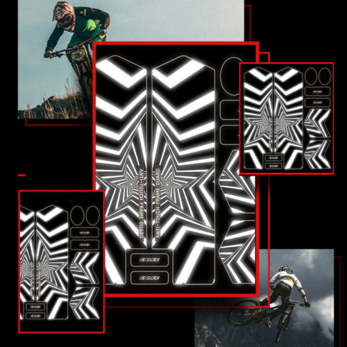 3D Reflective Protactive MTB Bike Fork Anti-Slip Waterproof Sticker Repeat Paste