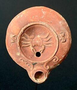 Lampe à huile époque romaine 50 à 150 ap JC roman oil lamp archéologie