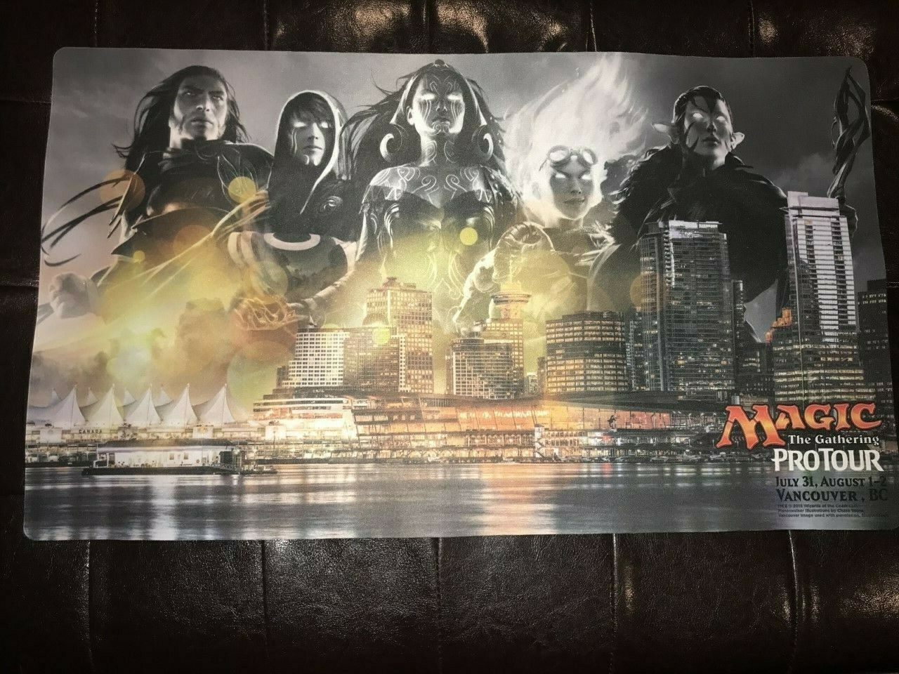 Magic Pro Tour Vancouver, BC, playmat, unused. Planeswalkers  RARE  mtg
