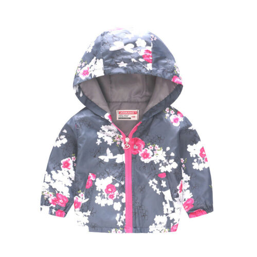 17 Style Toddler Baby Coat Outerwear Boys Girl Hooded Jacket Windbreaker Clothes