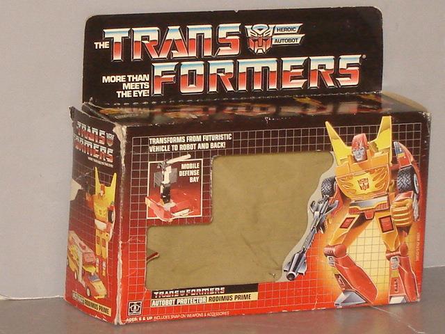 G1 transformador Autobot Rodimus Prime Caja Vacía Lote Nº 1