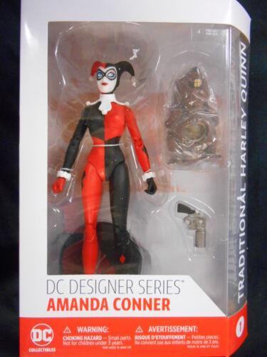 """Diseñador DC serie Amanda Conner #1 /""""tradicional Harley Quinn/"""" Figura de acción"""