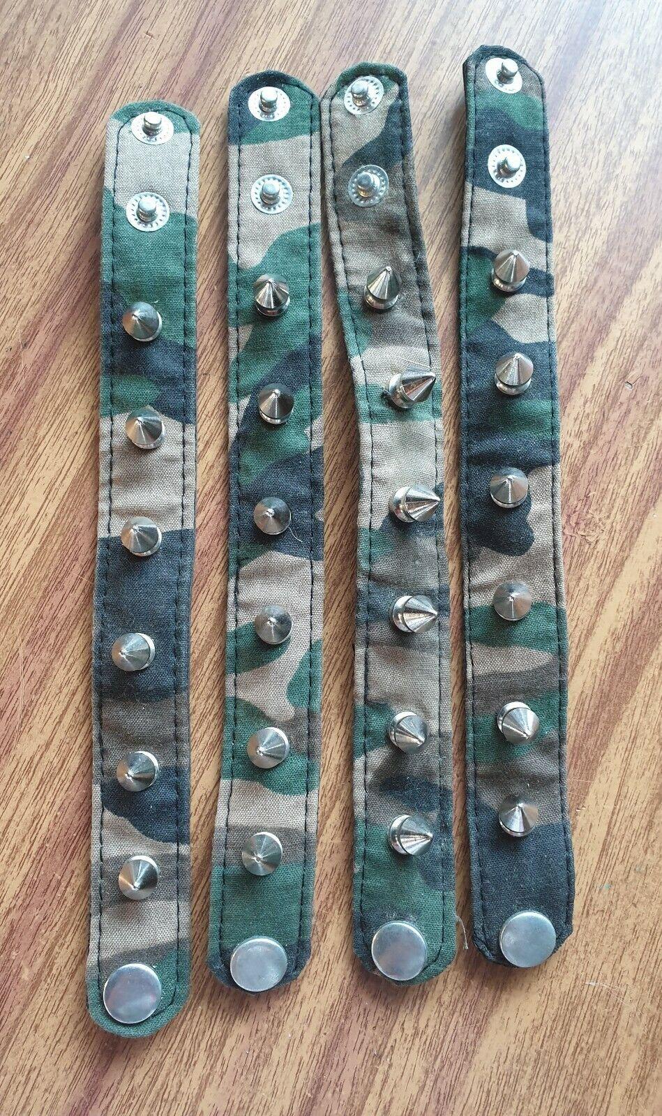 Studded Wristbands. Adjustable. Camouflage. 8