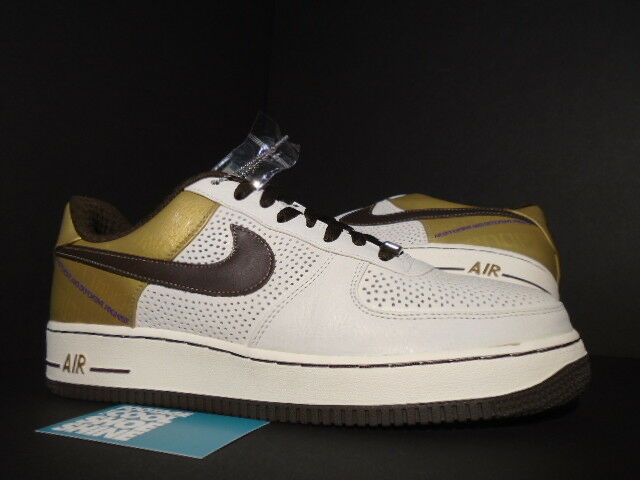 2007 nike air force 1 premio 07 originale sei michael cooper bianco marrone oro 11