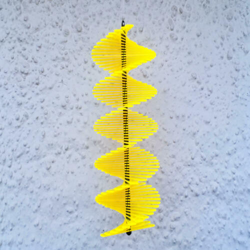 Wind Spinner large multi coloured hanging 3D spiral garden windmill SunCatcher