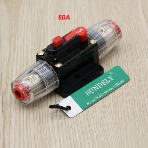 12-24V Car Modified Audio system Circuit Breaker Manual Reset Switch Fuse Holder