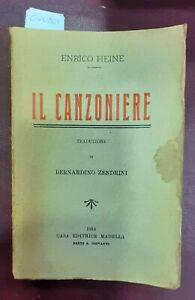 1913 - HEINE, Enrico. IL CANZONIERE.