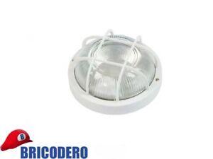 Plafoniere Con Protezione : Plafoniera tonda con griglia di protezione bianca 180x110 e27 60w ebay