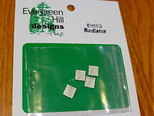 Evergreen Hill Designs HO #653 Radiator (4 pcs) Light Cast Metal
