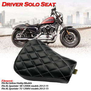 Motorrad-Front-Fahrer-Solo-Sitz-Sitzbank-fuer-Harley-Sportster-XL1200-883-72-48