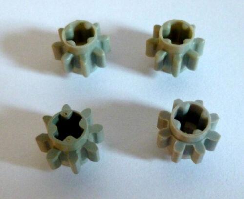 4 x LEGO® 10928 Technik Zahnräder hellgrau wie auf dem Foto gebraucht.