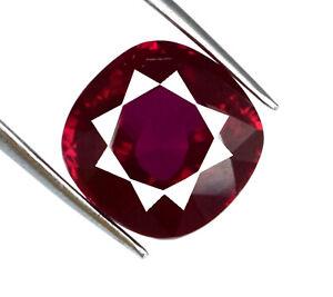 Coussin-100-Naturel-Birmanie-Rouge-Rubis-Gemstone-Certifie-8-10-Ct