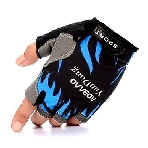 Short Fingerless Cycling Gloves MTB Half Finger Bicycle Motorcycle UK 18-22 Size
