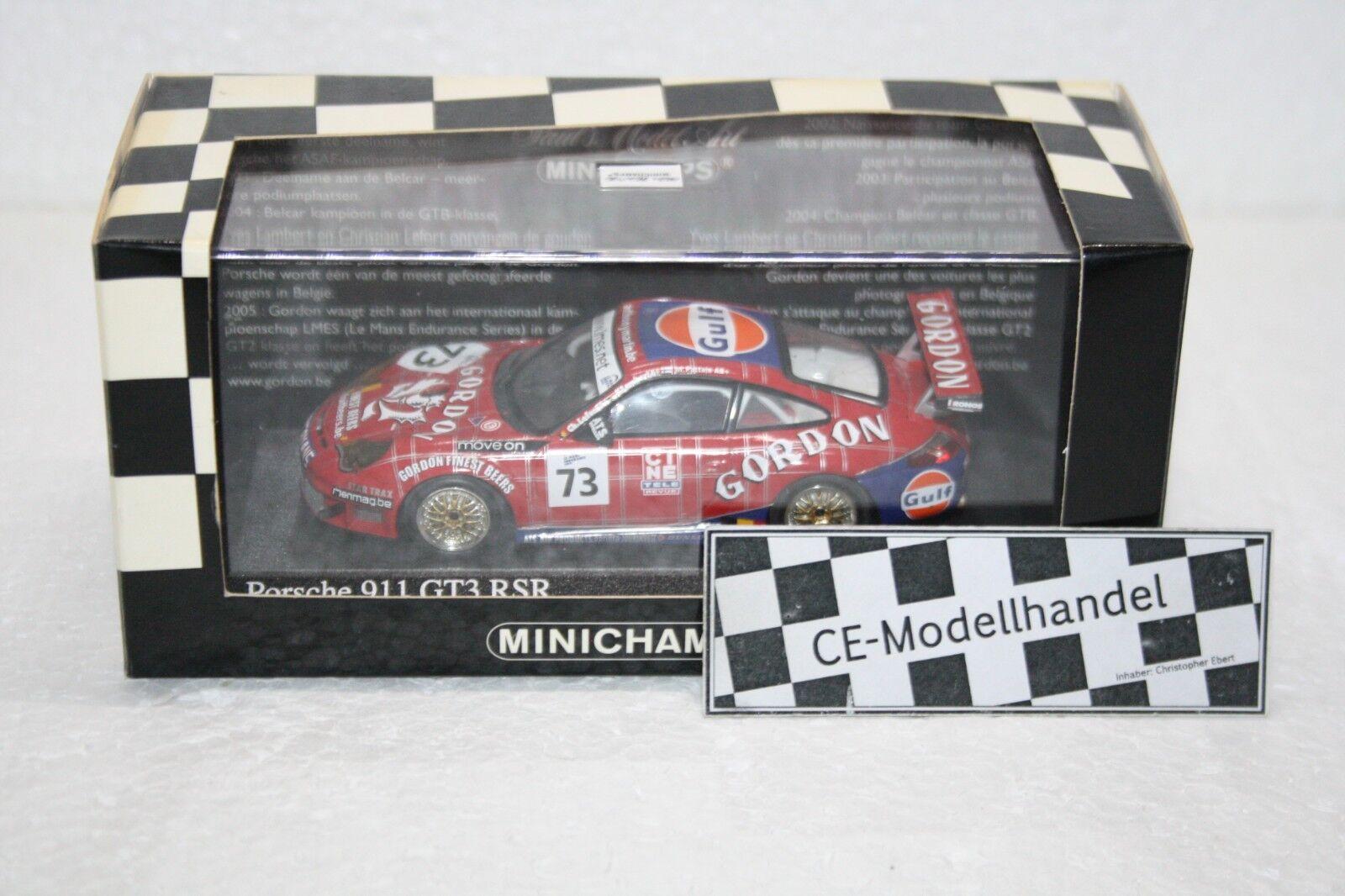 Porsche 911 gt3 rsr   73  équipe Gordon  1.000 HM SPA  2005  MINICHAMPS  1 43