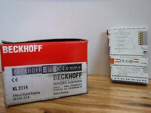 BECKOFF KL2114  4 channel digital output terminal 24 V DC