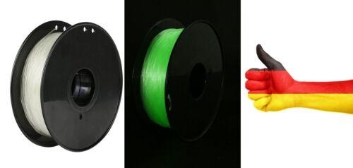 PLA Filament 1,75mm 1kg GLOW IN THE DARK GRÜN Nachtleuchtend Green für CREALITY