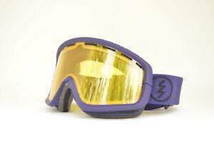 2014-ELEKTRISCH-EGB2-SNOWBOARD-GOGGLES-Dark-Night-Purple-yellow-lens-used