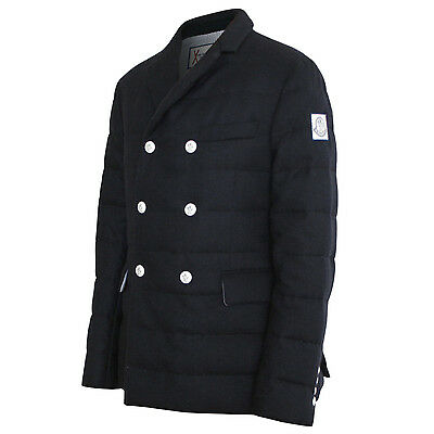 MONCLER GAMME BLEU x Thom Browne quilted coat wool cashmere padded down peacoat
