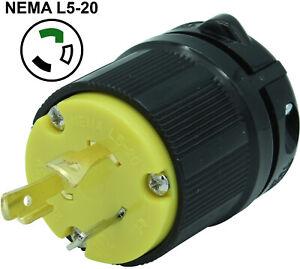 Pass /& Seymour Twist-Lock Plug 20A//125V   L5-20P PRICE DROP!!!