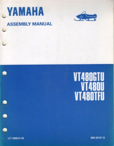 1994 YAMAHA SNOWMOBILE VT480GTUsee cover ASSEMBLY MANUAL LIT126680150 423