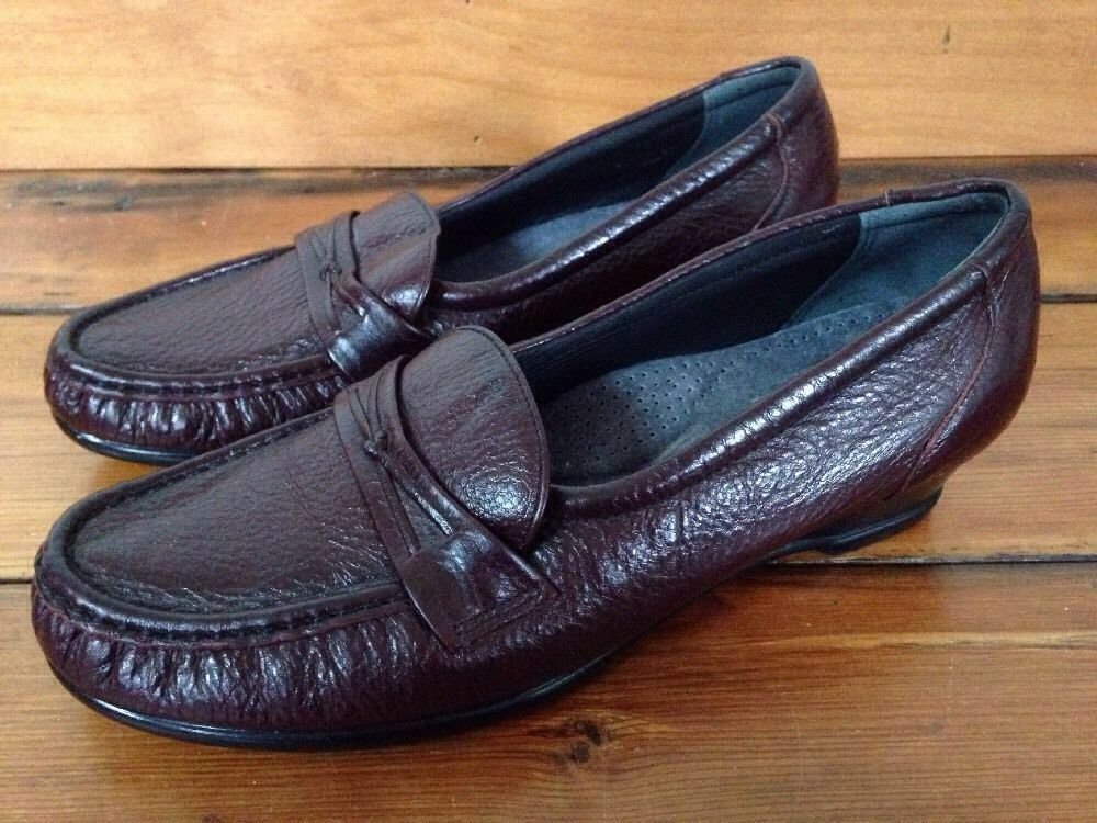 SAS Tripad Comfort Burgundy Leder Loafer Moc Toe Damenschuhe Schuhes USA Made 9M 39.5