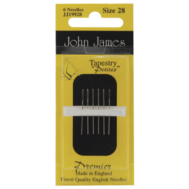 Pack of 25 John James Needlepoint Tapestry Needles Size 22