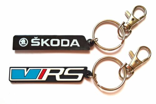 SKODA VRS keyring high quality rubber keychain for OCTAVIA FABIA with gift bag
