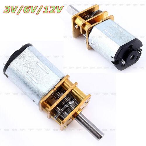DC 3V//6//12V 50-2000RPM N20 Micro Speed Rad Motor Getriebemotore Modellbau