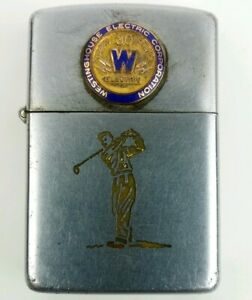 Zippo-Lighter-Westinghouse-Electric-Corp-30-Years-Service-Needs-Flint