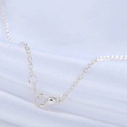 18 Inches Long Silver Plated Flip Flop Pendant Necklace