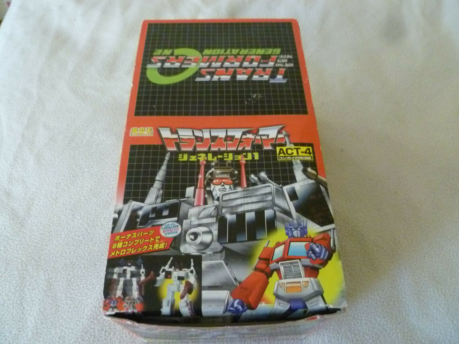 New sealed transformers case scf act 4 12 boxed figures generation one takara