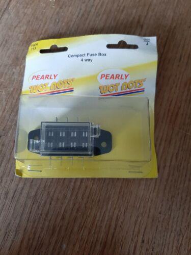 Pearly Wotnot PWN713 Coche Auto Caja de Fusible compacto de 4 vías Fusible de empuje