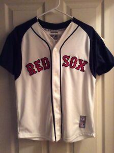 213733115dd MLB BOSTON RED SOX   18 JOSH BECKETT SEWN MAJESTIC JERSEY LARGE ...
